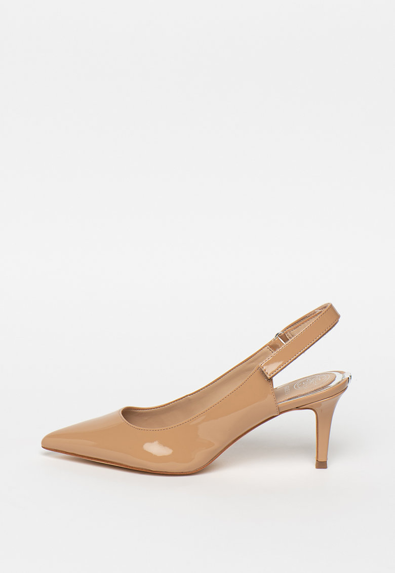 Pantofi slingback de piele ecologica