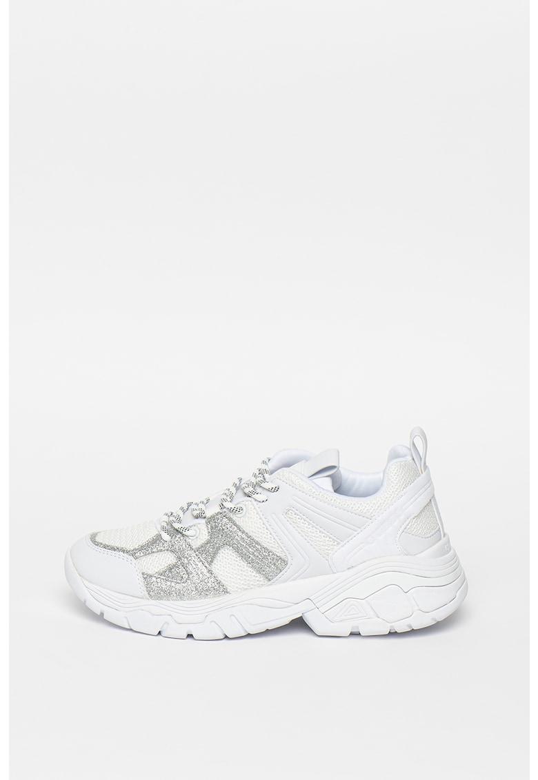 Pantofi sport de piele ecologica - cu insertii de plasa Marlia