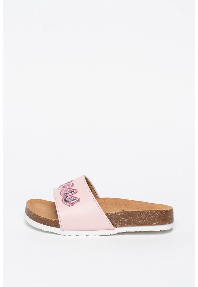 Papuci de piele ecologica Sylvie