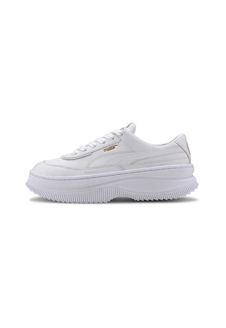 Pantofi sport flatform de piele Deva