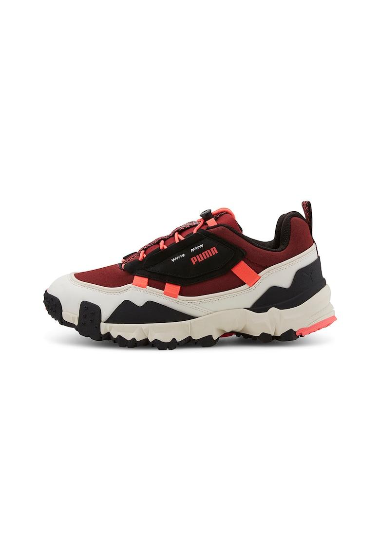 Pantofi unisex cu garnituri de piele intoarsa si piele nabuc - pentru alergare Trailfox Trail