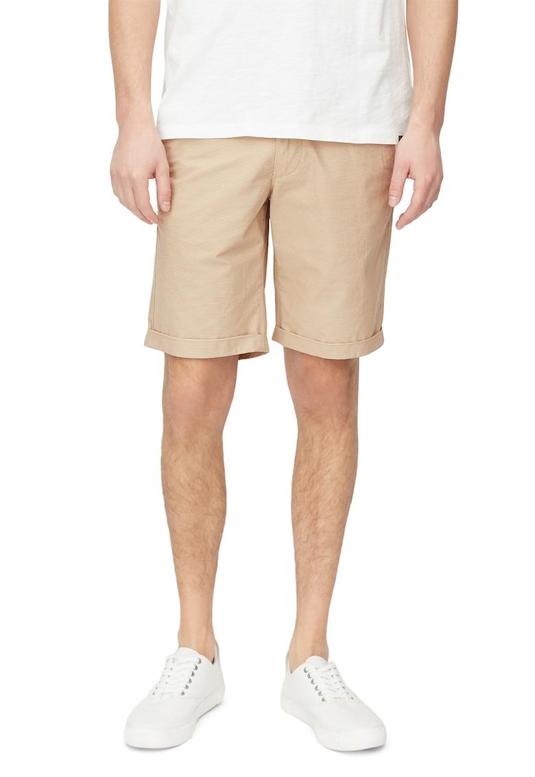 Pantaloni scurti in dungi - cu talie medie de la Marc OPolo