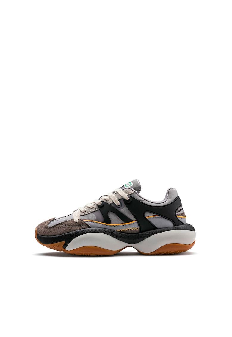 Pantofi sport cu garnituri de piele intoarsa ecologica Alteration