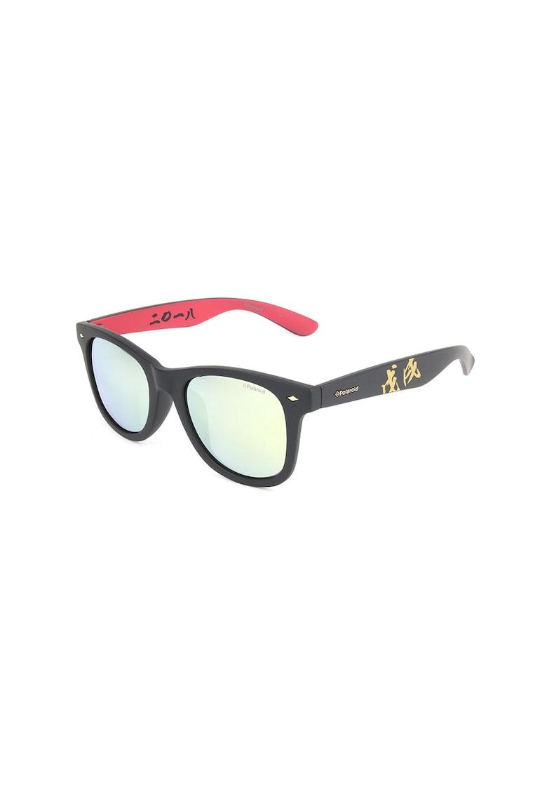 Ochelari de soare unisex dreptunghiulari cu lentile polarizate poza fashiondays