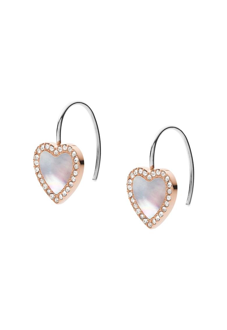 Cercei drop decorati cu Mother of Pearl si cristale