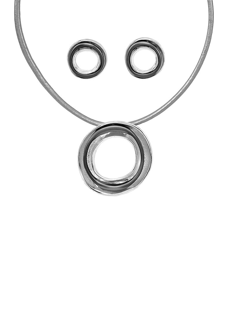 Set de colier si cercei din bronz - cu model circular imagine fashiondays.ro