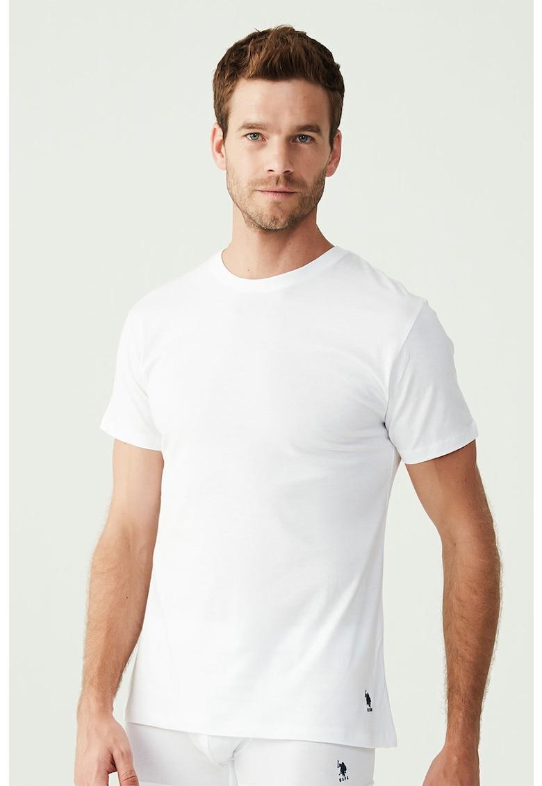 Set de tricouri de casa cu decolteu la baza gatului - 2 piese poza fashiondays