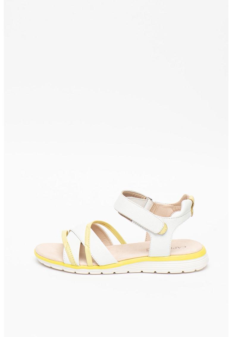 Sandale colorblock de piele imagine