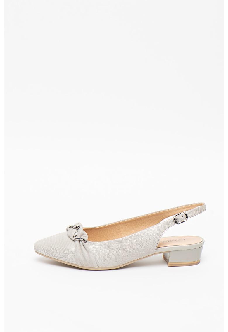 Pantofi slingback de piele imagine