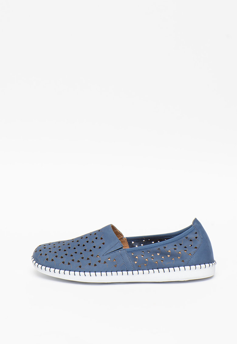 Pantofi slip-on de piele cu decupaje