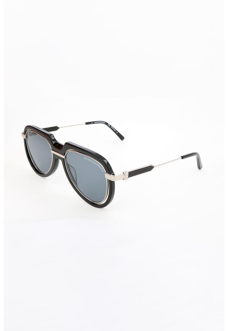 Ochelari de soare aviator unisex imagine fashiondays.ro CALVIN KLEIN
