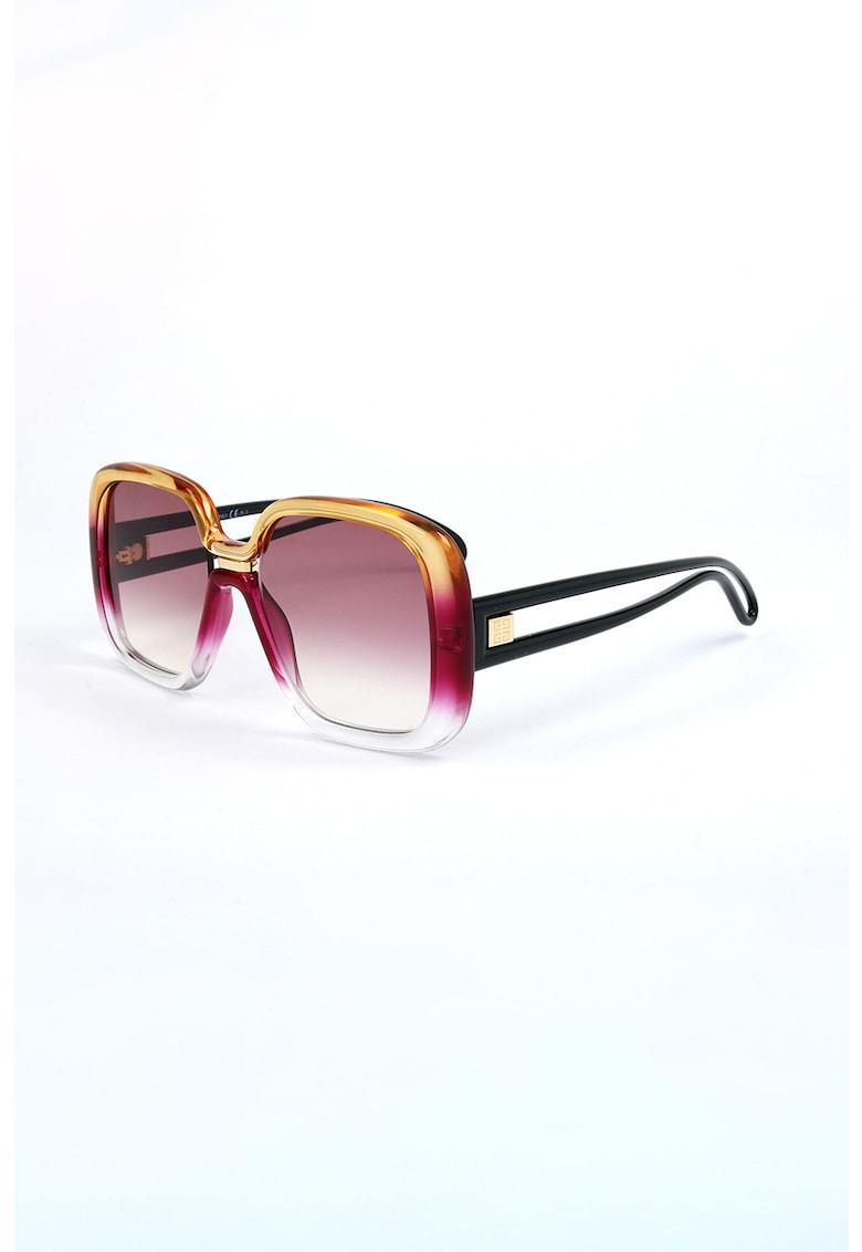 Ochelari de soare dreptunghiulari cu lentile in degrade imagine fashiondays.ro 2021