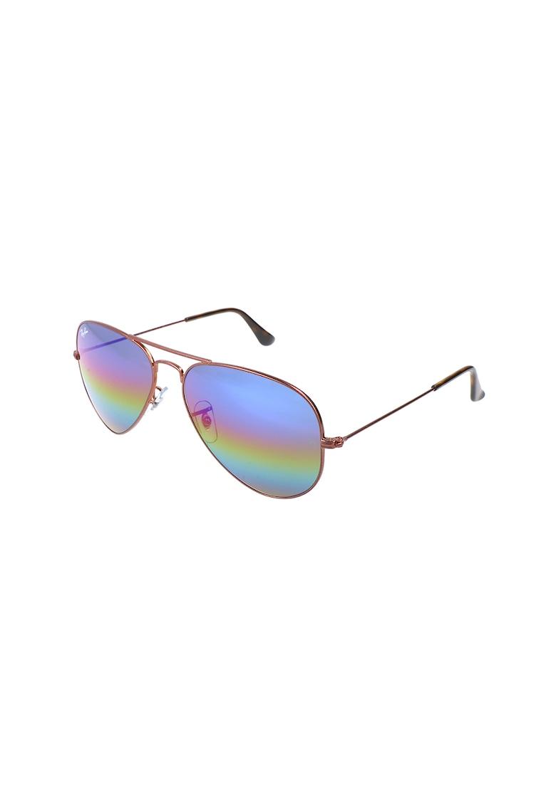 Ochelari de soare aviator cu lentile oglinda