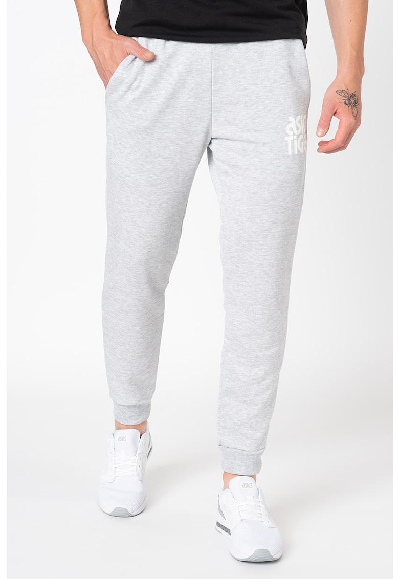 Pantaloni sport cu imprimeu logo Sports Style