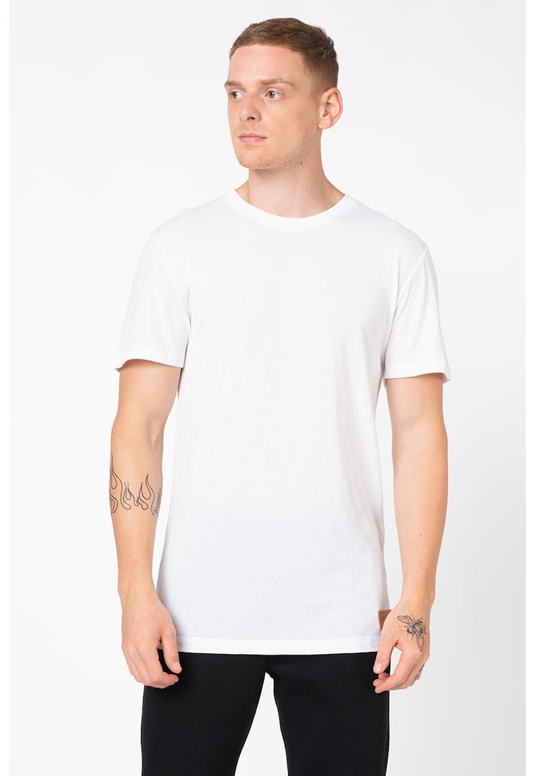 Tricou cu decolteu la baza gatului si aplicatie logo Premium imagine