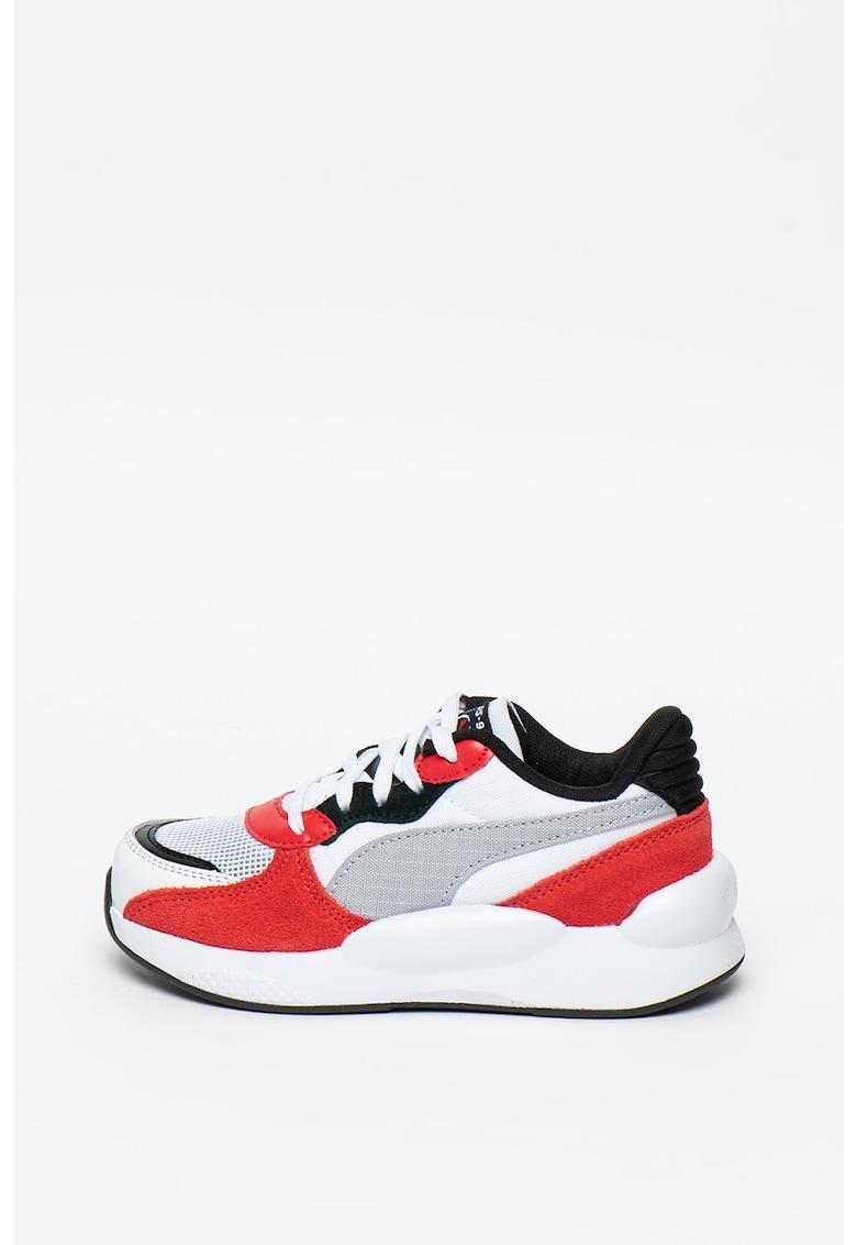 Pantofi sport cu model colorblock si garnituri de piele intoarsa RS 9.8 Space imagine