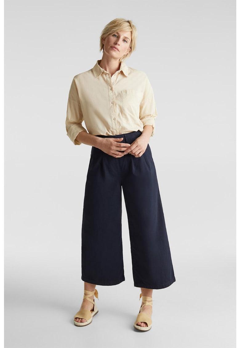 Pantaloni cu croiala ampla din amestec de lyocell imagine fashiondays.ro