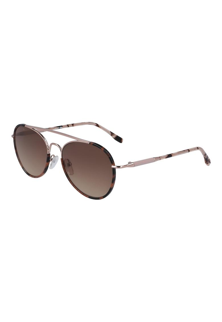 Ochelari de soare rotunzi cu rama metalica Lacoste fashiondays.ro