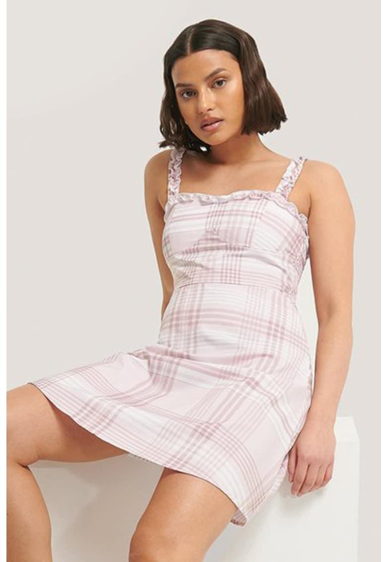 Rochie mini cu volane