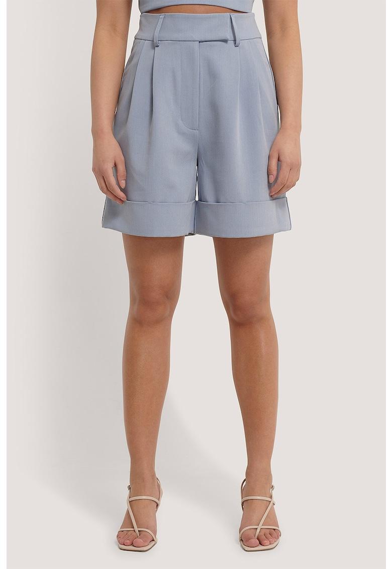Pantaloni scurti relaxed fit cu talie inalta imagine fashiondays.ro