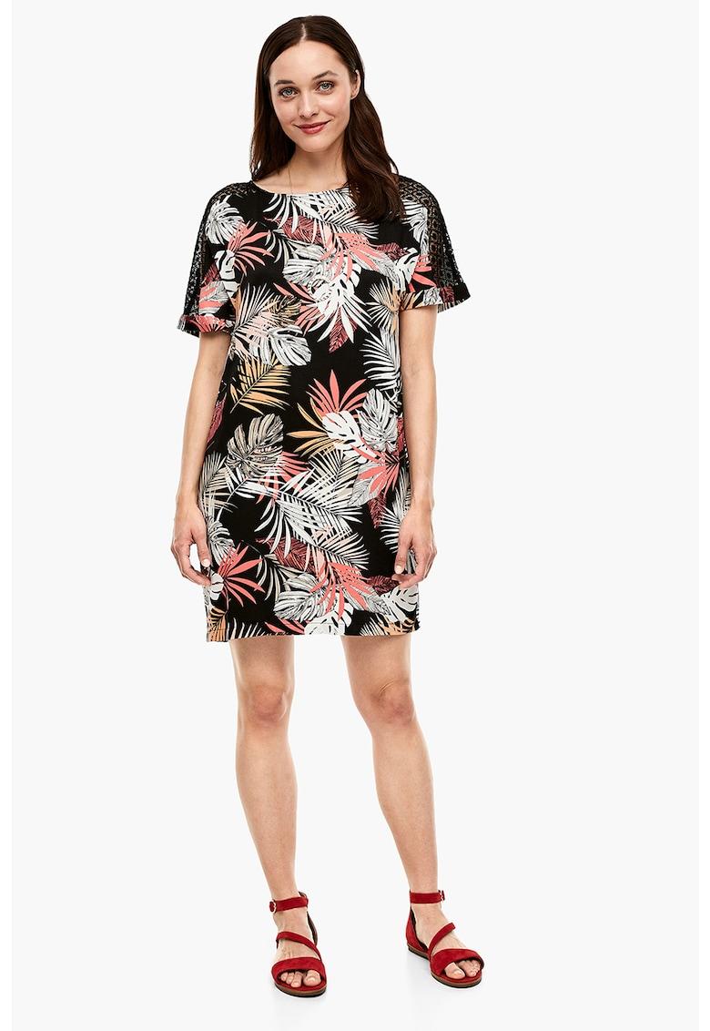 Rochie cu model tropical si perforatii s.Oliver