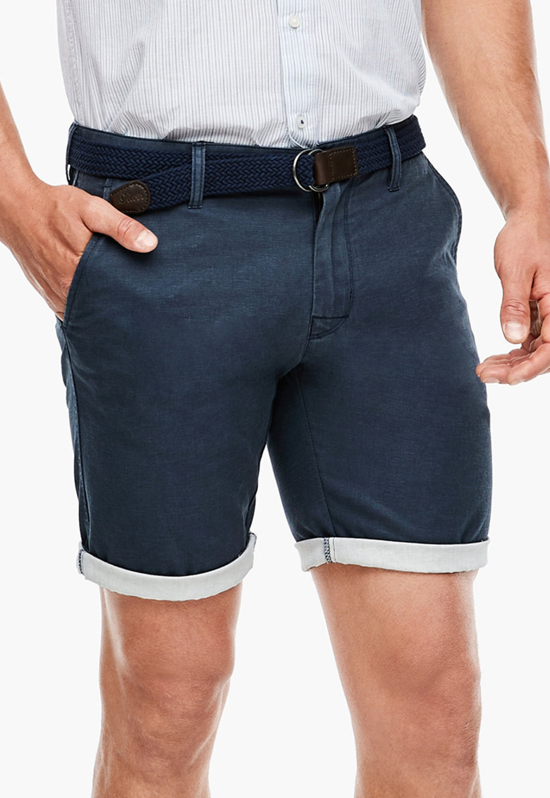 Pantaloni din amestec de in - cu buzunare cu nasturi