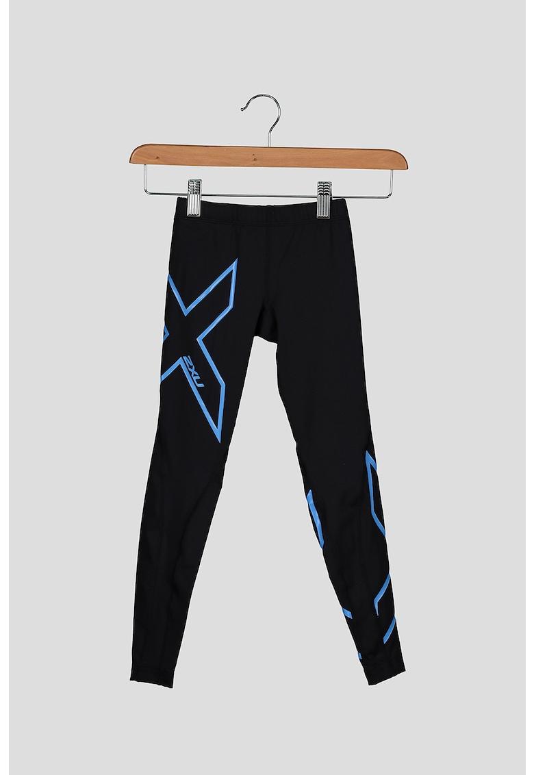 Colanti de compresie cu imprimeu logo - pentru fitness imagine
