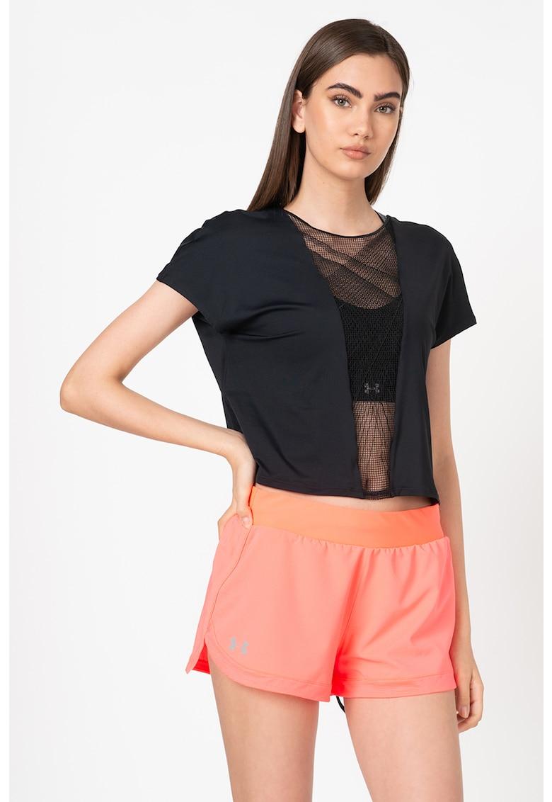 Tricou cu garnitura de plasa - pentru fitness Misty