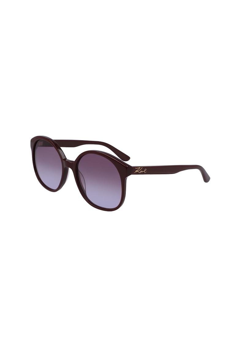 Ochelari de soare rotunzi cu lentile in degrade