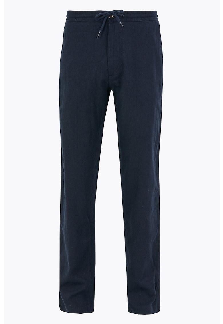 Pantaloni regular fit cu snur in talie imagine
