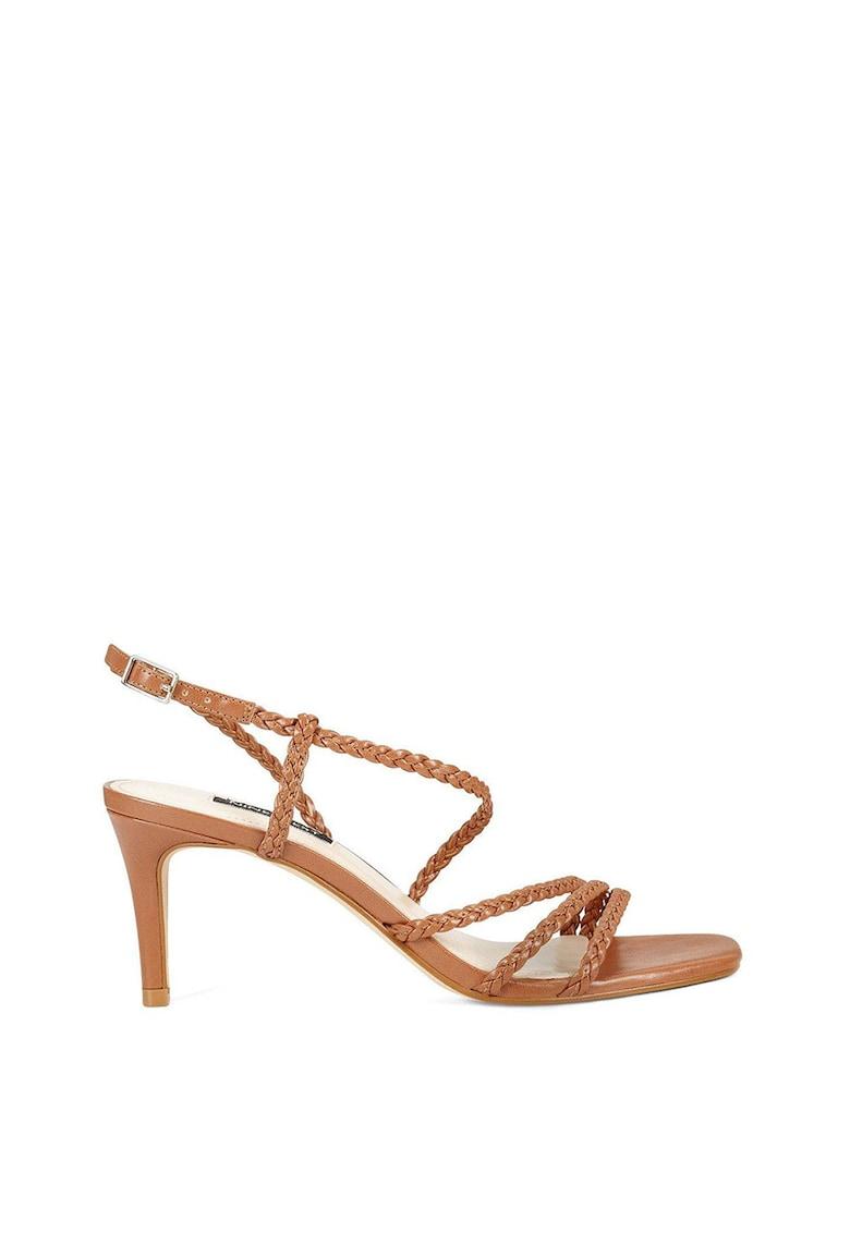 Sandale de piele ecologica - cu aspect impletit Game poza fashiondays