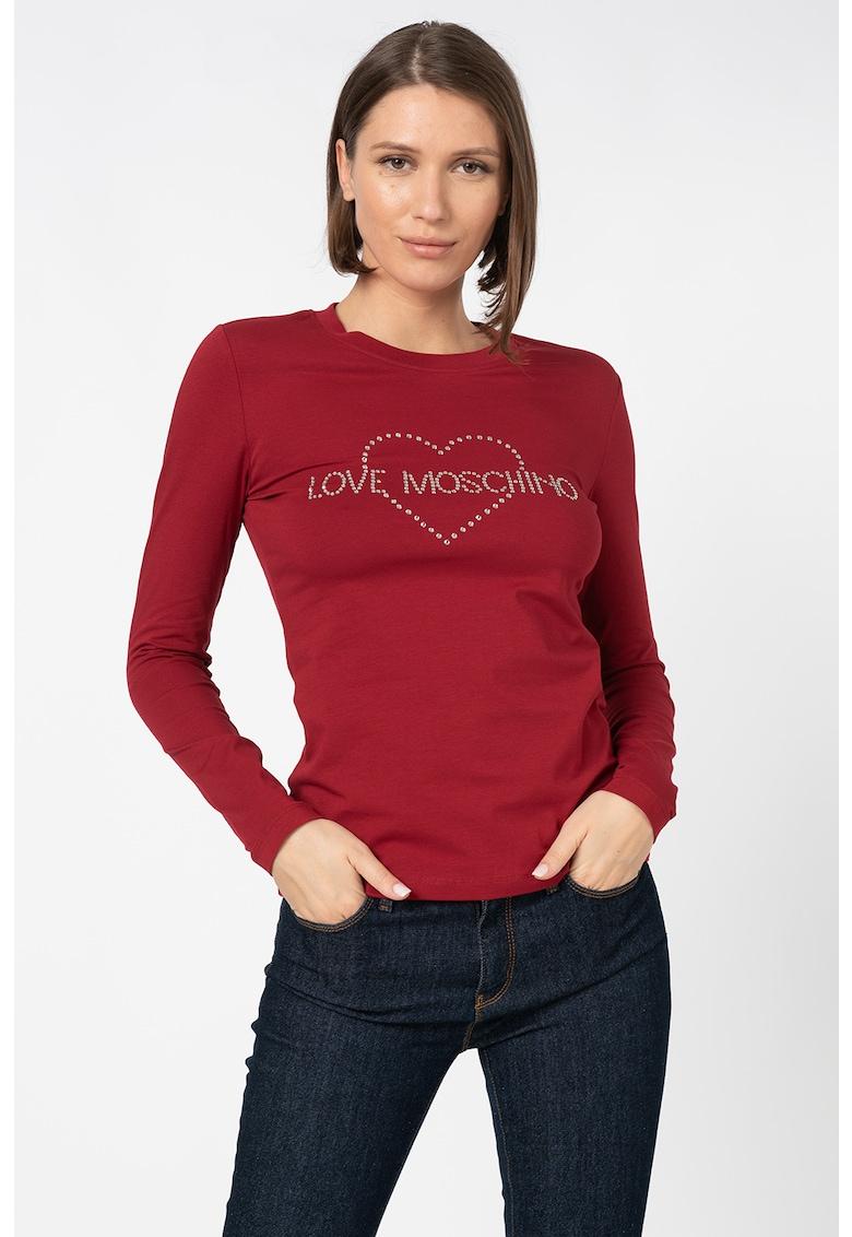 Bluza cu logo din strasuri