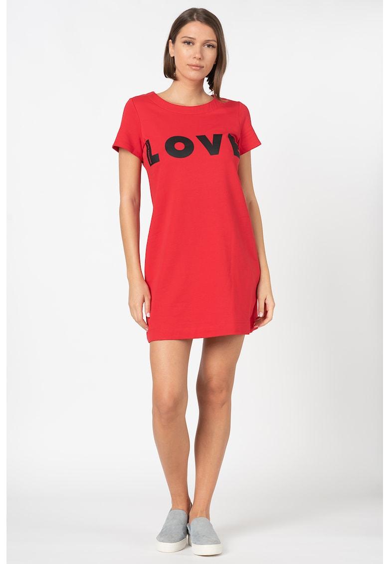 Rochie mini tip tricou - cu imprimeu text