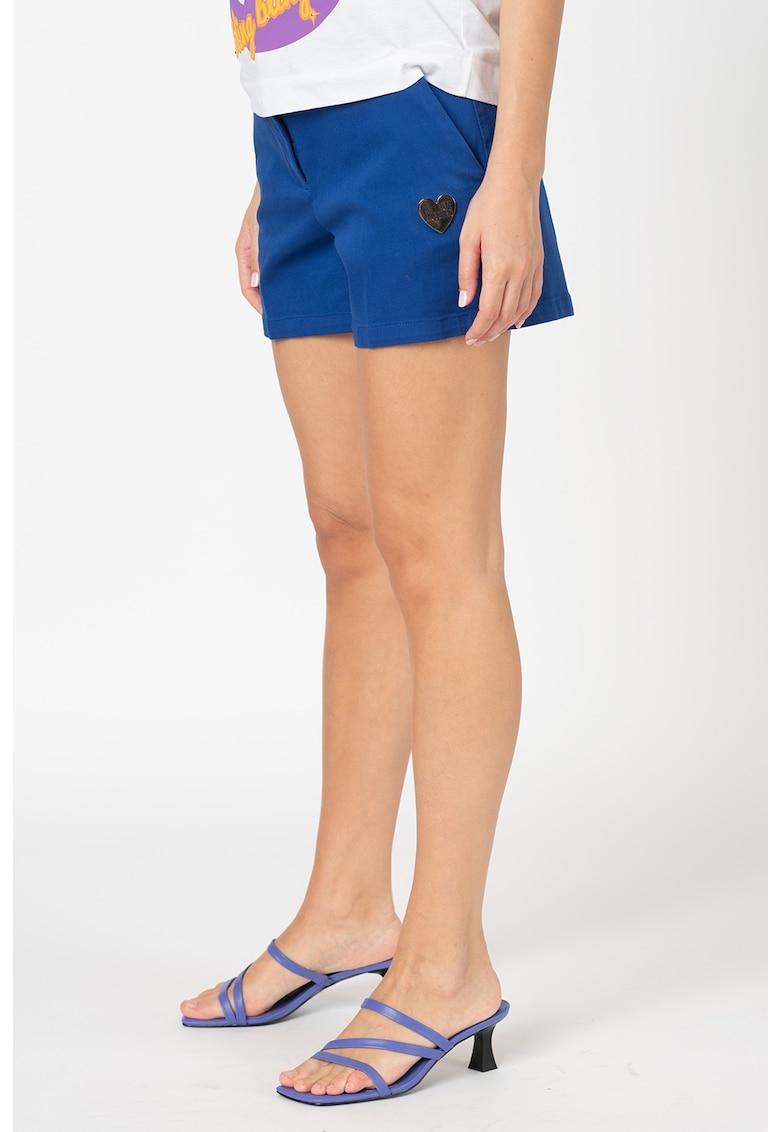 Pantaloni scurti cu buzunare oblice