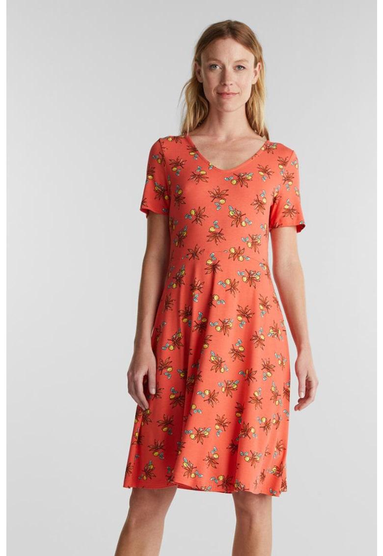 Rochie midi cu imprimeu floral de la Esprit