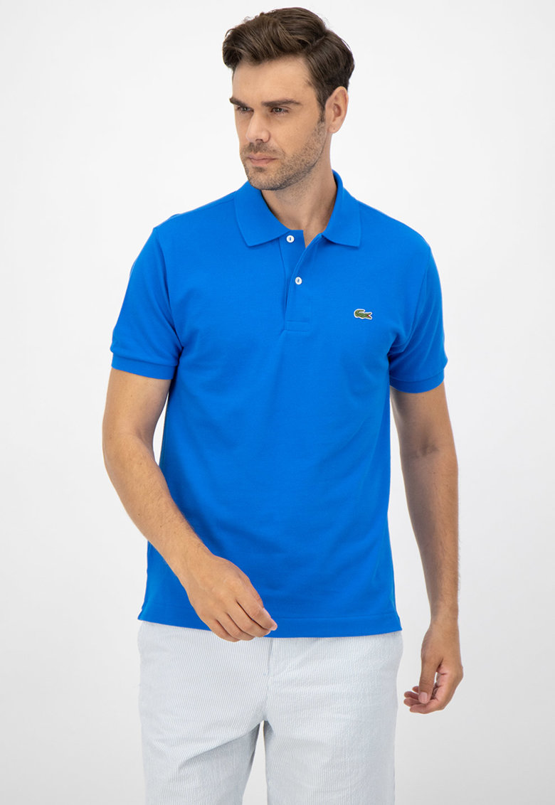 Tricou regular fit polo din material pique Bărbați imagine