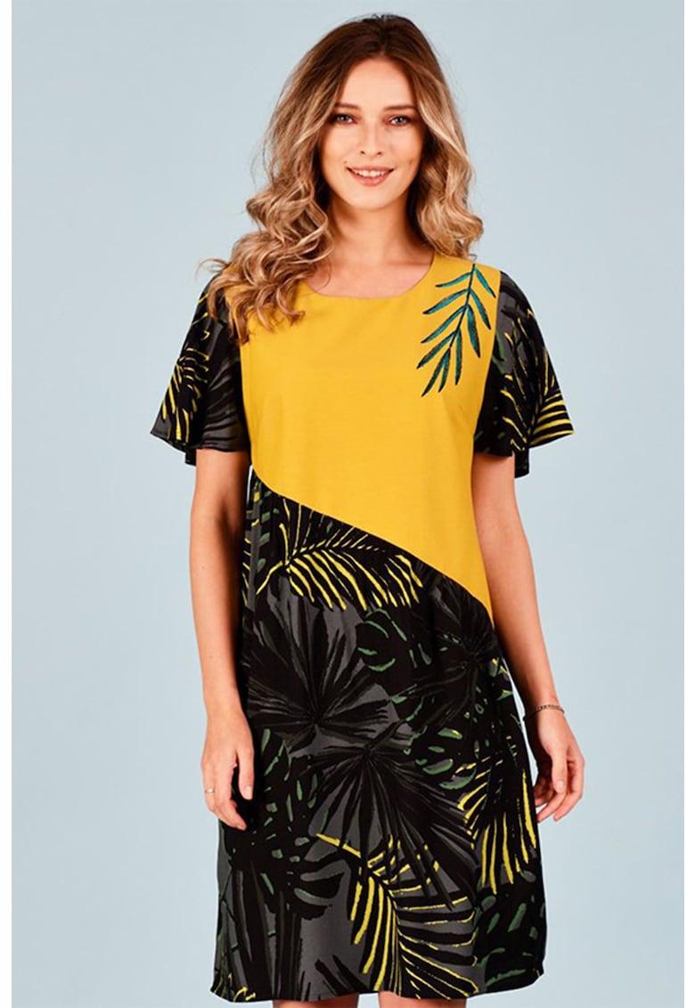 Rochie mini cu model tropical Format-Lady