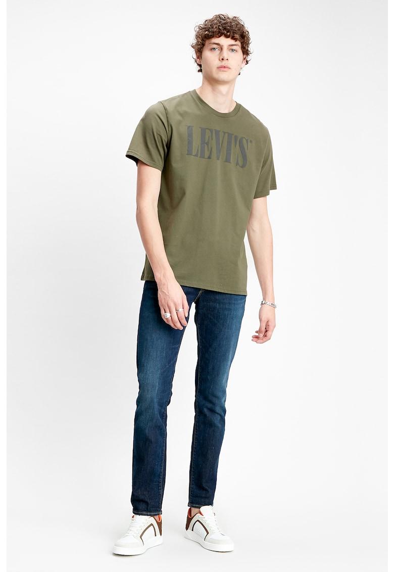 Tricou cu decolteu la baza gatului si imprimeu logo Levi's imagine 2021