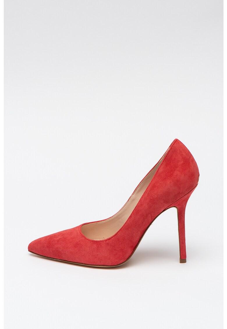 Pantofi stiletto de piele intoarsa cu varf ascutit Marylin