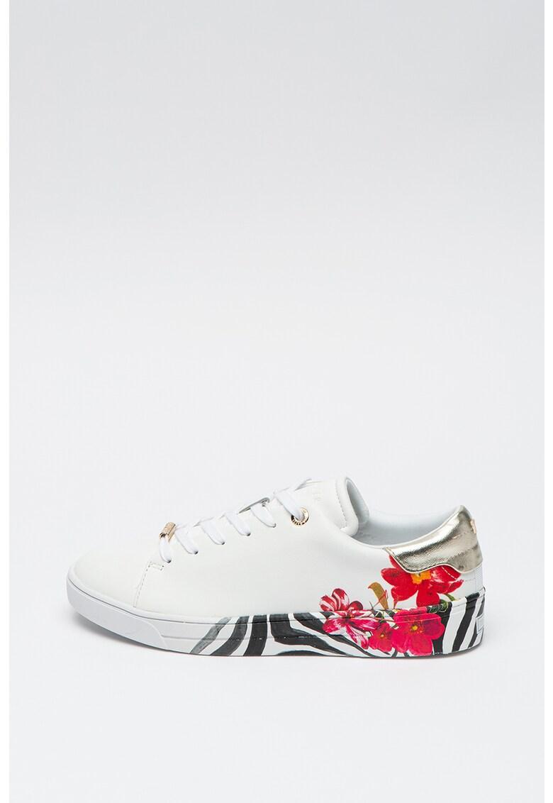 Pantofi sport de piele cu imprimeu floral Lennes