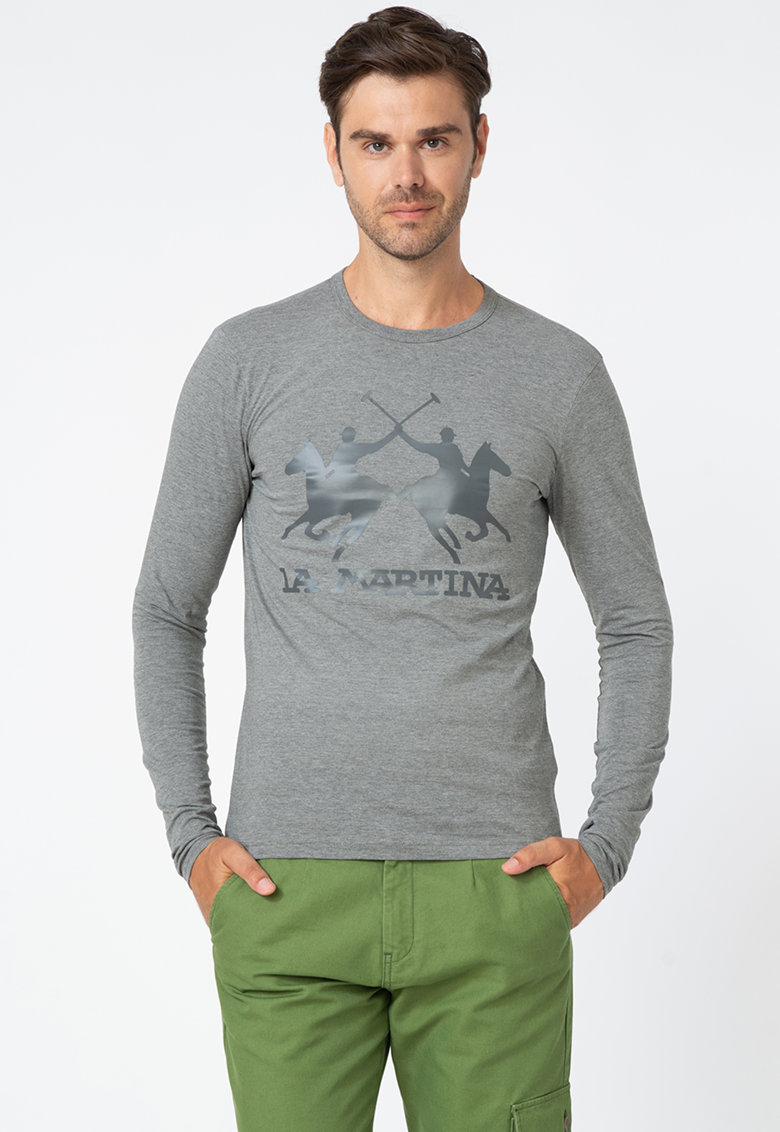 Bluza regular fit cu aplicatie logo imagine