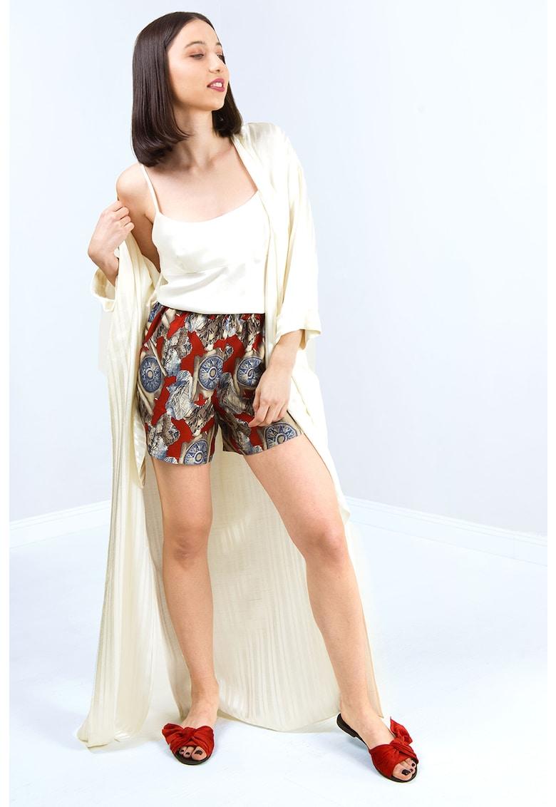 Pantaloni scurti de pijama cu model grafic imagine