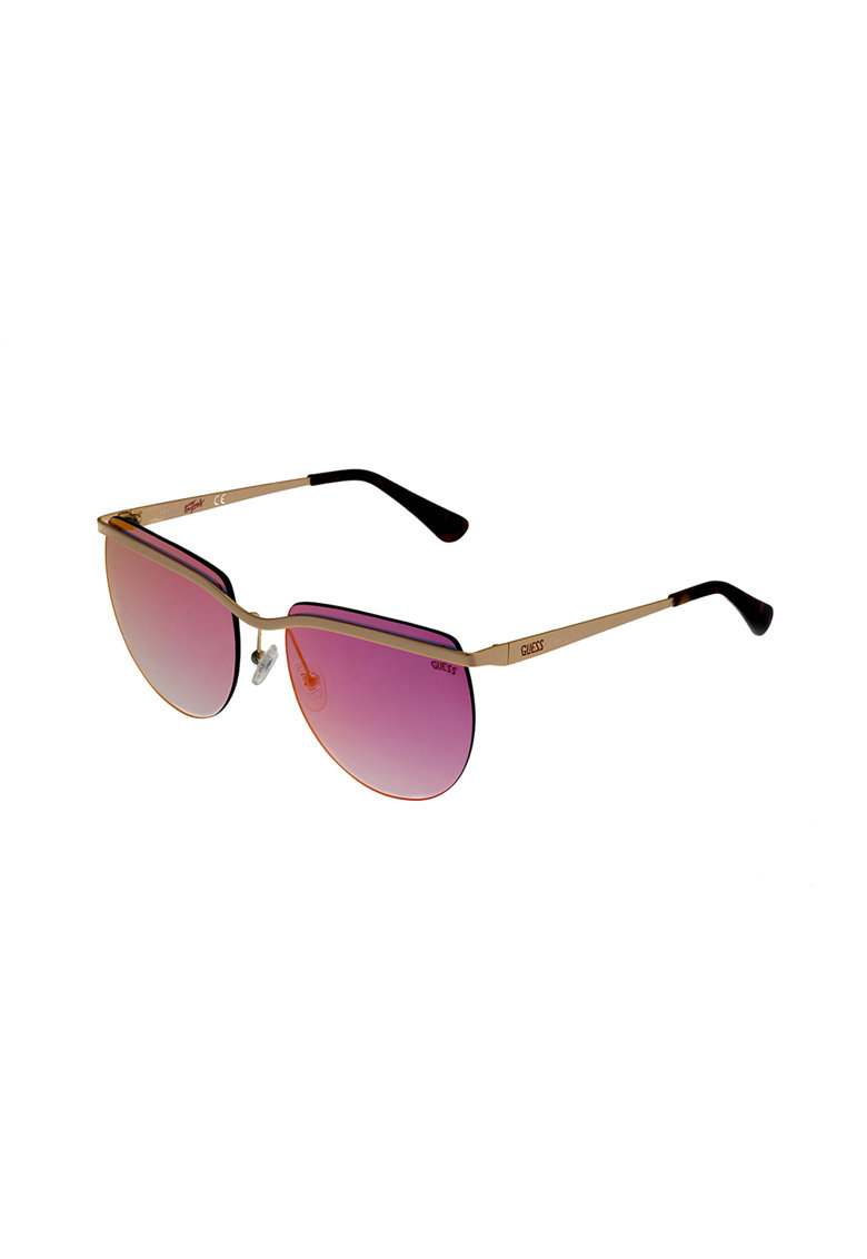 Ochelari de soare rotunzi cu lentile uni imagine fashiondays.ro Guess
