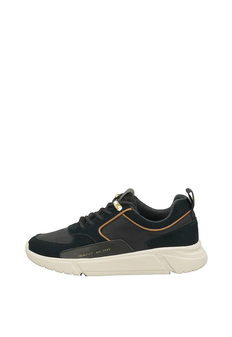 Pantofi sport de piele intoarsa cu insertii textile Cocoville poza fashiondays