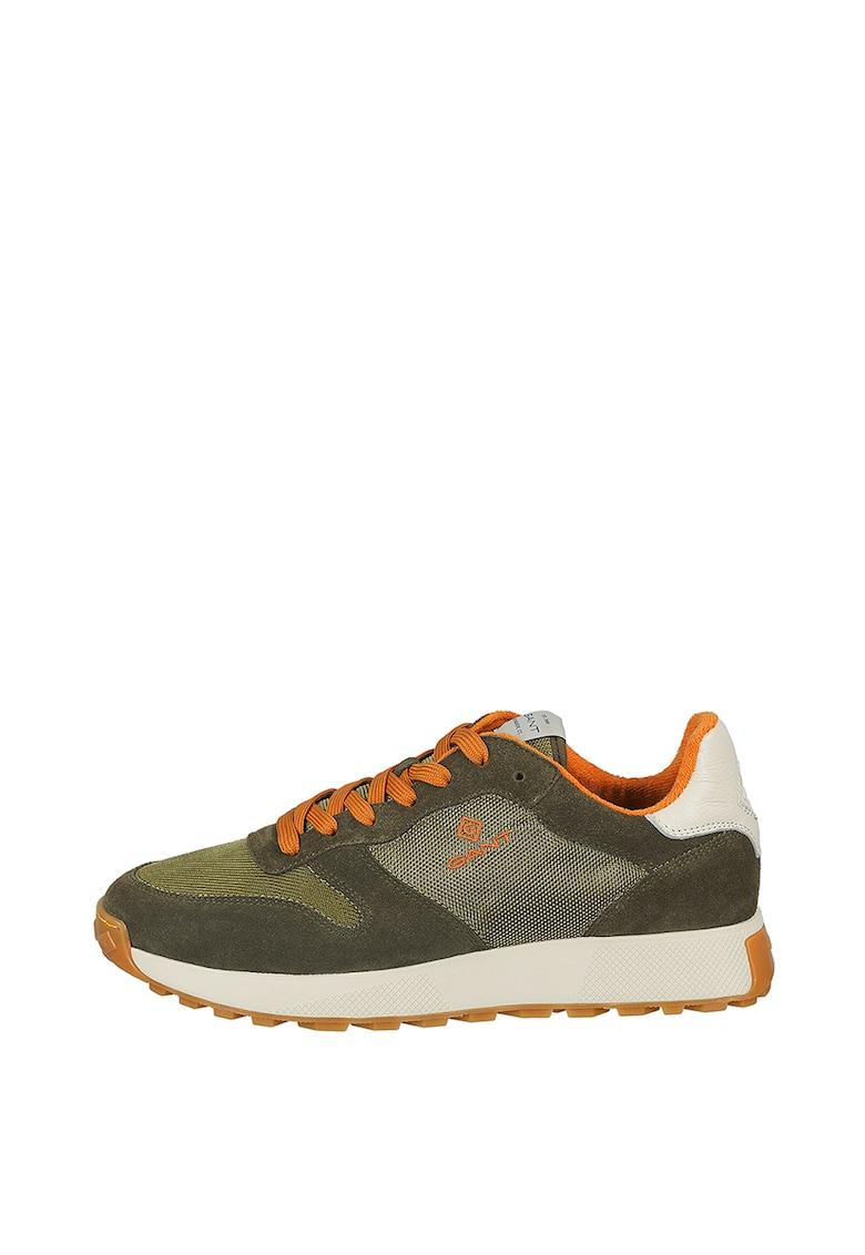 Pantofi sport low-top cu garnituri de piele intoarsa