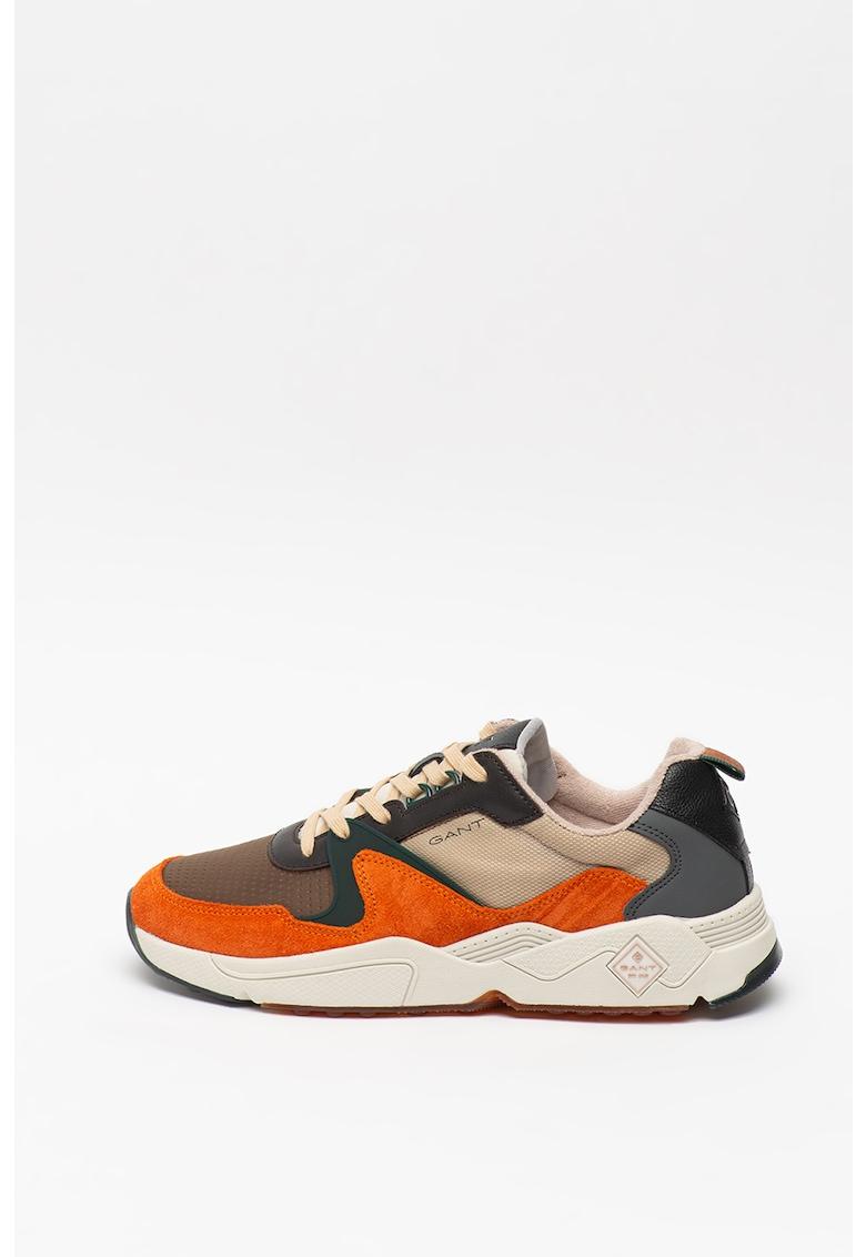 Pantofi sport cu model colorblock si garnituri de piele intoarsa Nicewill imagine promotie