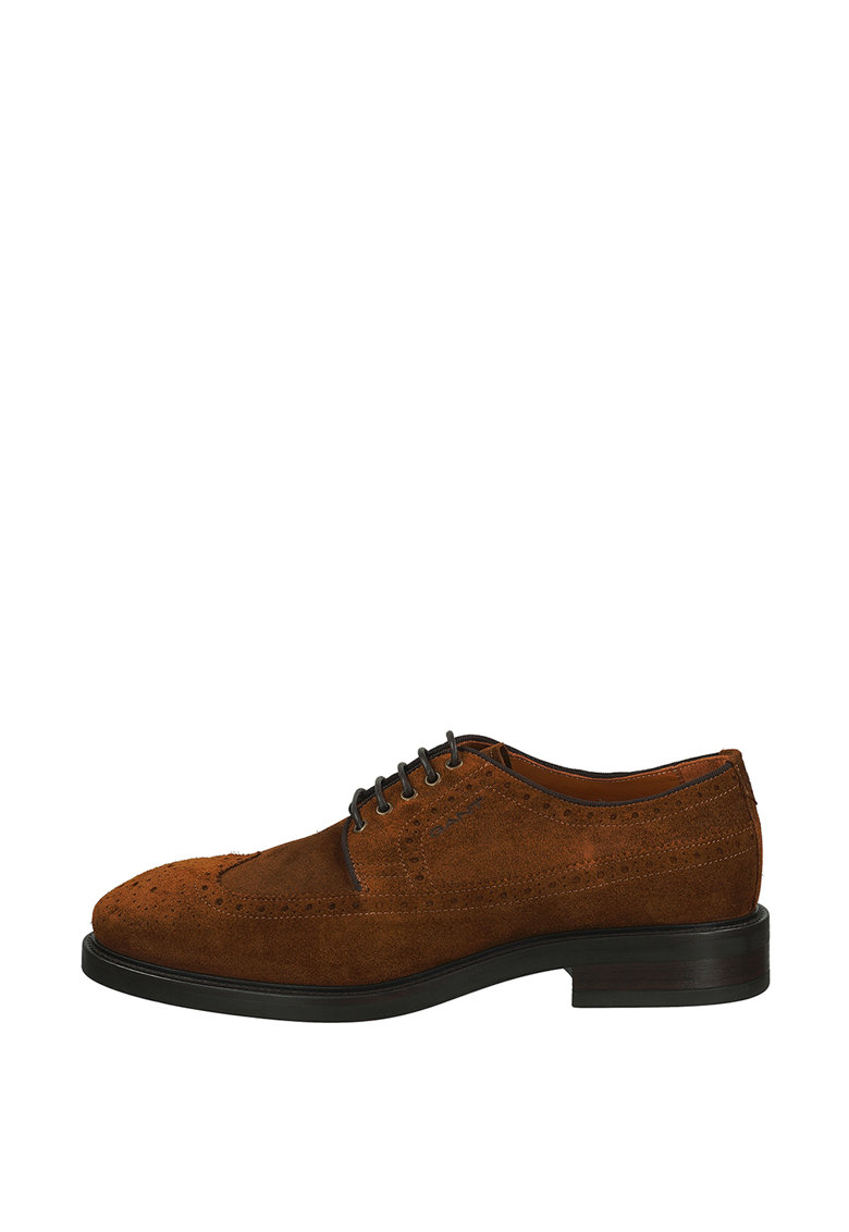 Pantofi brogue de piele intoarsa