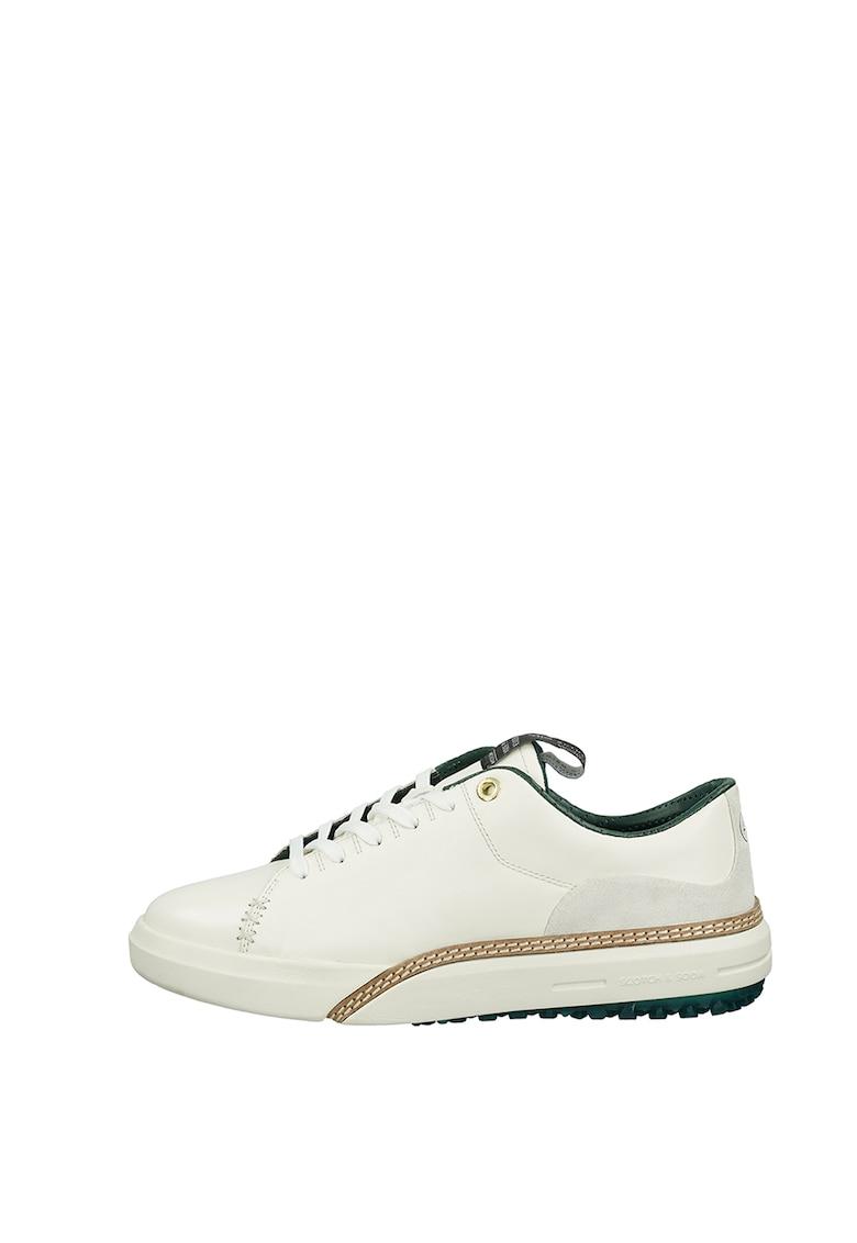 Pantofi sport din piele cu insertii din piele intoarsa