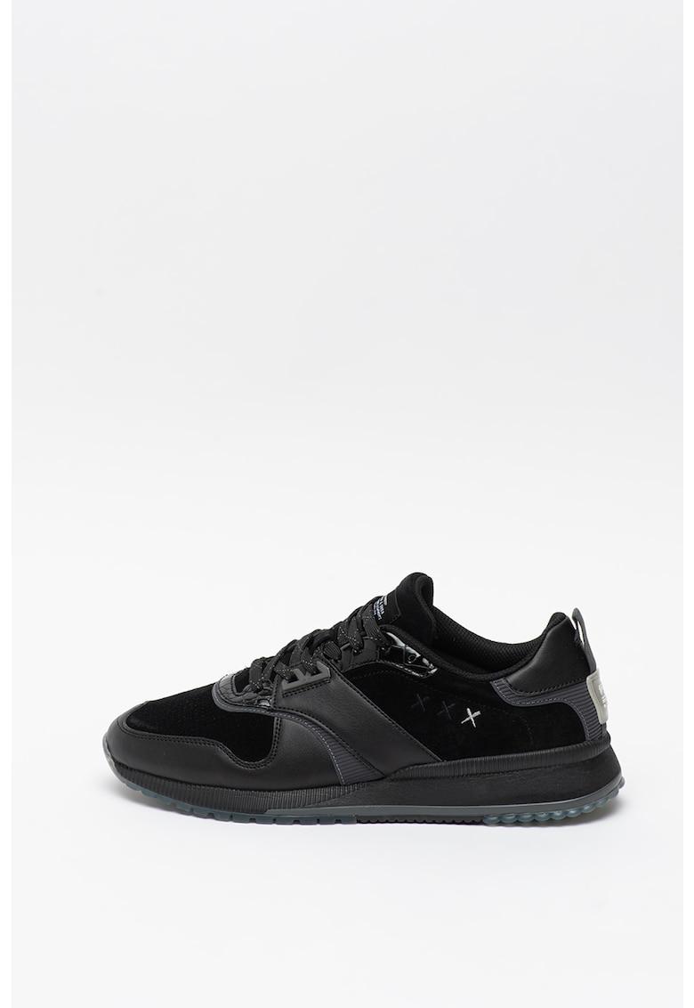 Pantofi sport de piele cu insertii de piele intoarsa Vivex imagine promotie