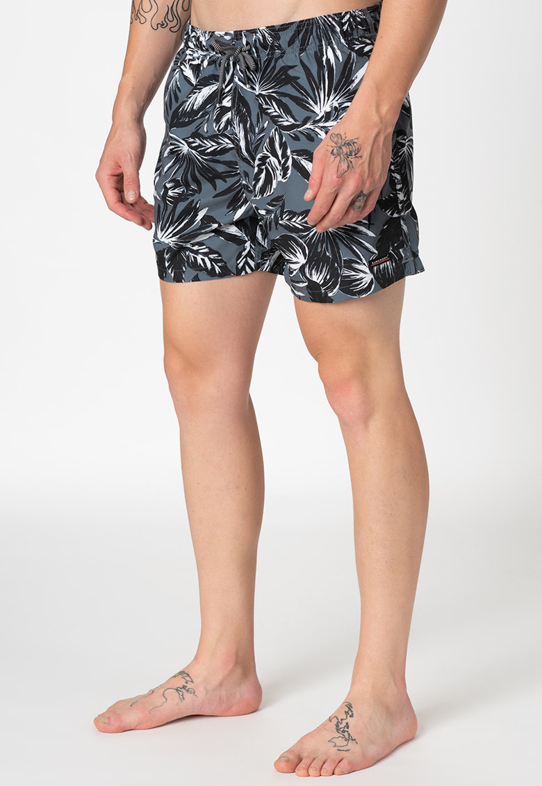 Pantaloni scurti de baie cu snur de ajustare in talie 1 SUPERDRY imagine 2021